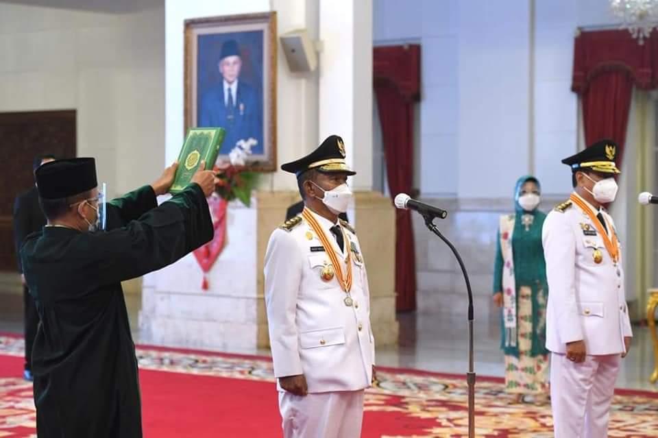 Presiden RI Joko Widodo Lantik Gubernur dan Wakil Gubernur Sulawesi Tengah Masa Jabatan 2021-2024