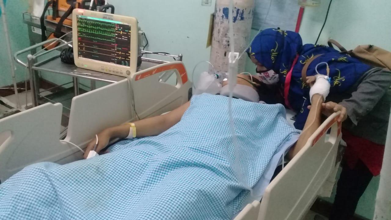 Terjadi Laka Tunggal di Desa Baru, Kecamatan Batang Kuis, Kabupaten Deli Serdang, Kakaknya Koma, Adik Luka Ringan