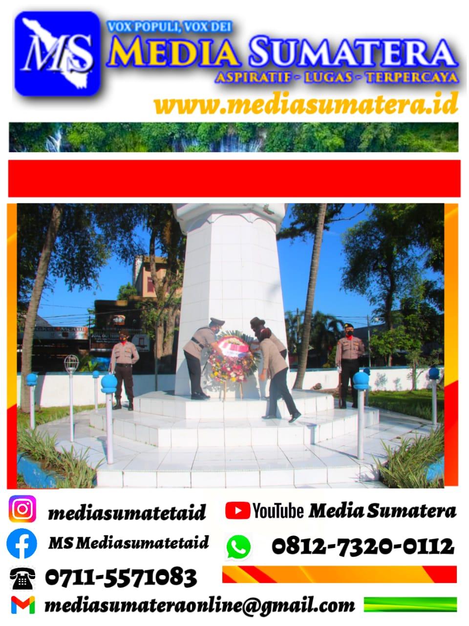 Menyambut Peringatan HUT Ke-75 Bhayangkara, Polresta Deli Serdang Ziarah ke Taman Makam Pahlawan