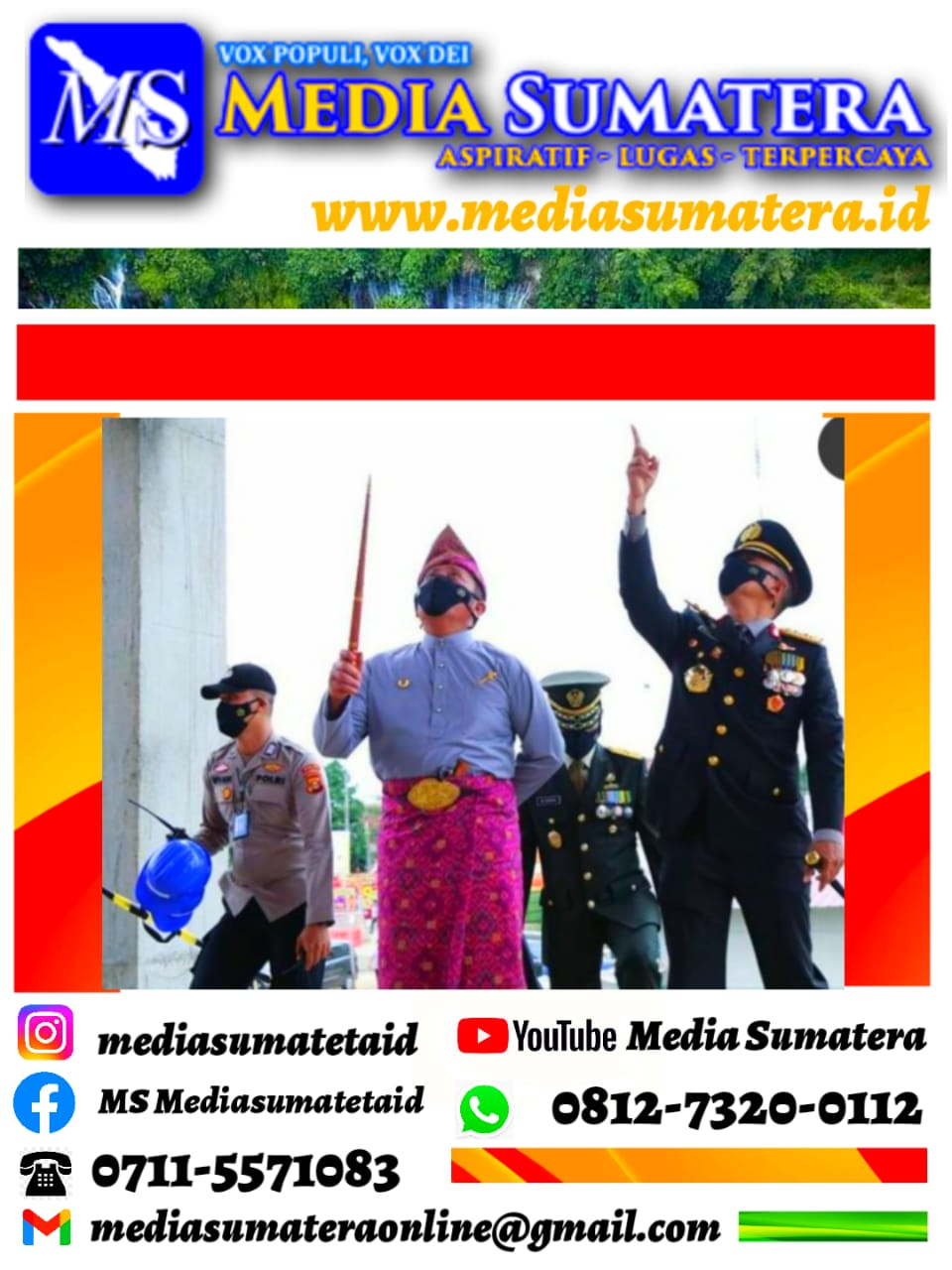 Kapolda Sumsel Irjen Pol Prof Eko Indra Heri, Bersama Forkompimda Sumsel Meninjau Pembangunan Gedung Mapolda Sumsel
