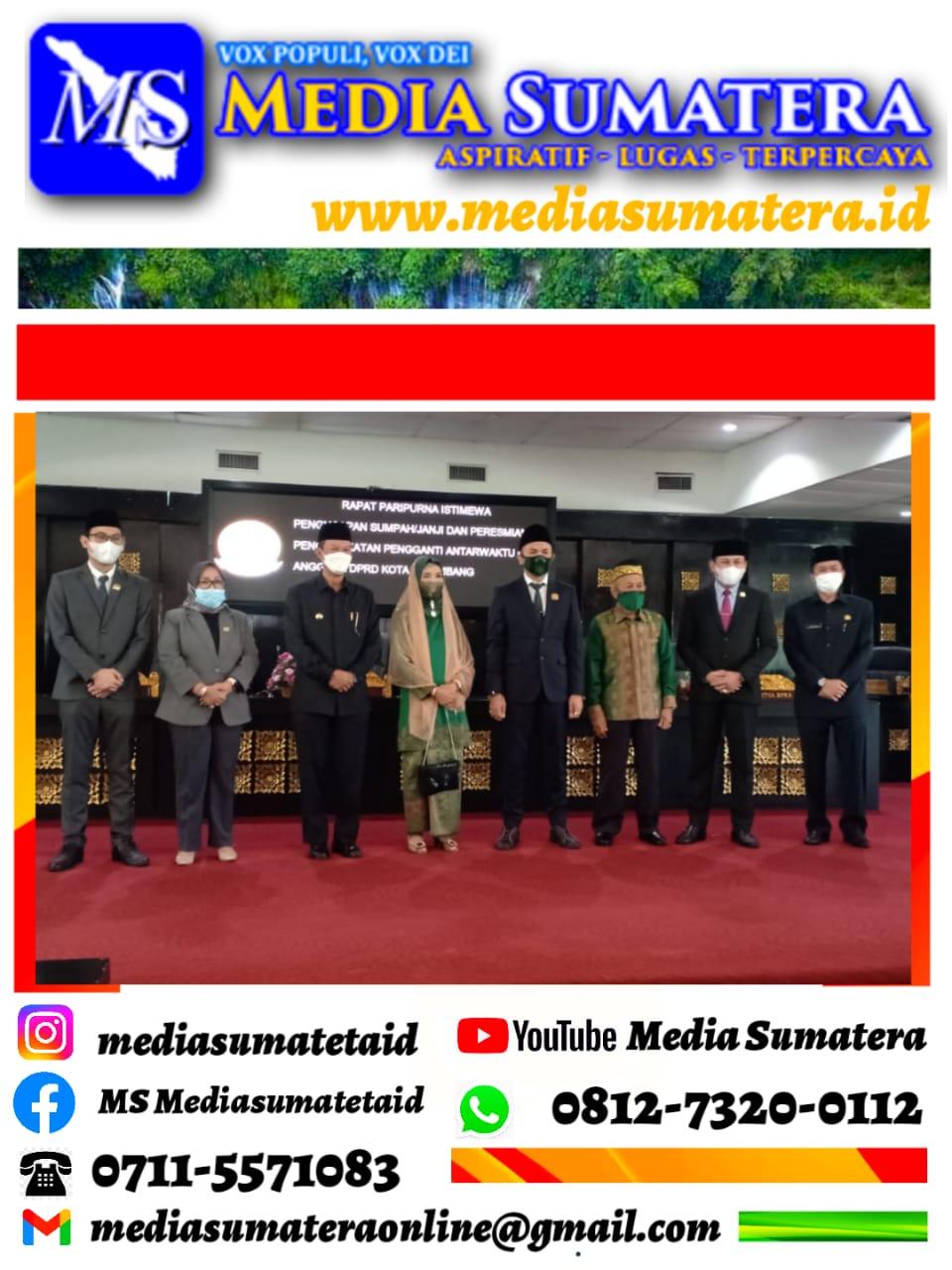 Ketua DPRD Kota Palembang Lantik Dan Pengambilan Sumpah Muhammad Arfani PAW H. Endar Himawan Sisa Masa Bakti 2019-2024