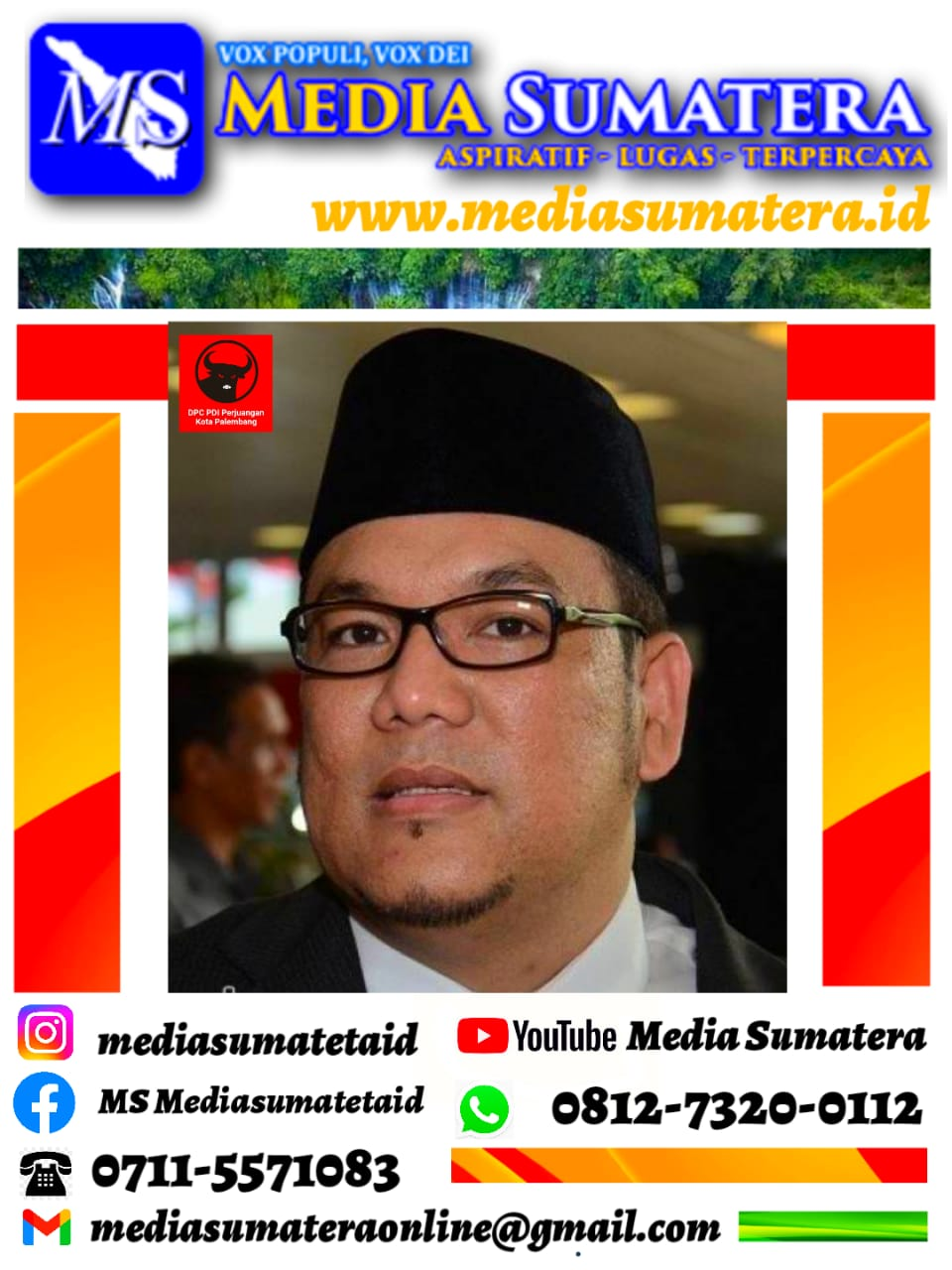 Aksi Sosial DPC PDI Perjuangan Kota Palembang Jadi Partai Pelopor Adakan Vaksin Massal Dalam Mensukseskan Program Vaksinasi.