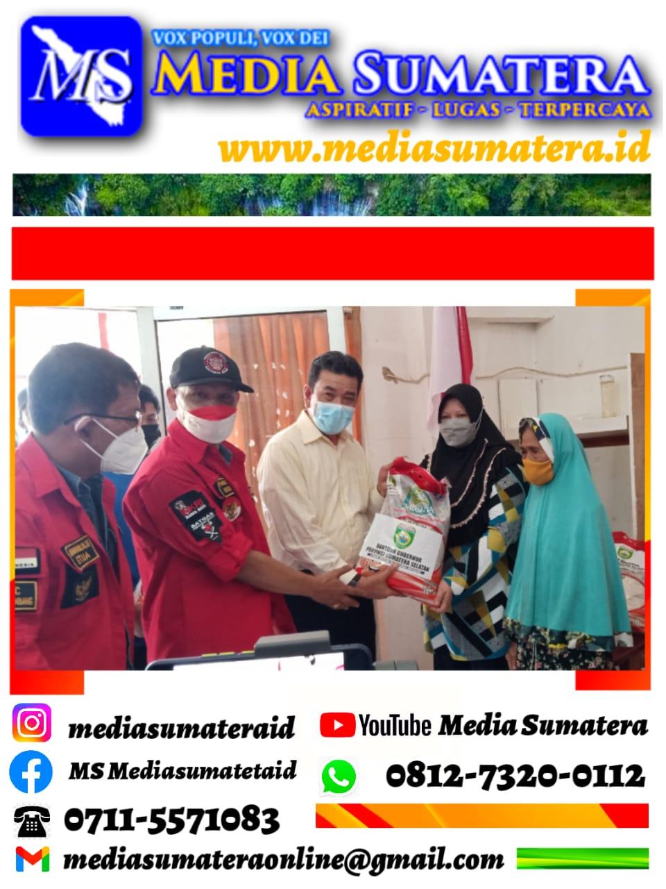DPD Pemuda Batak Bersatu (PBB) Sumsel Sudah Terima Bantuan Sosial Dari Pemprov Sumsel Untuk Kemudian Di Distribusikan Untuk Masyarakat Terdampak Pandemi Covid-19
