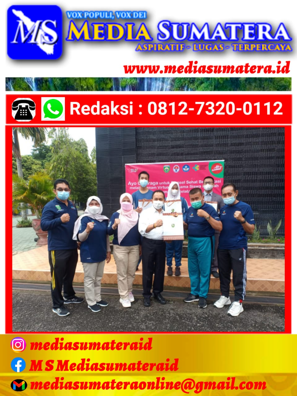 Lounching Gerakan Ayo Sehat Untuk Sumsel Disambut Baik SMAN 1 Palembang