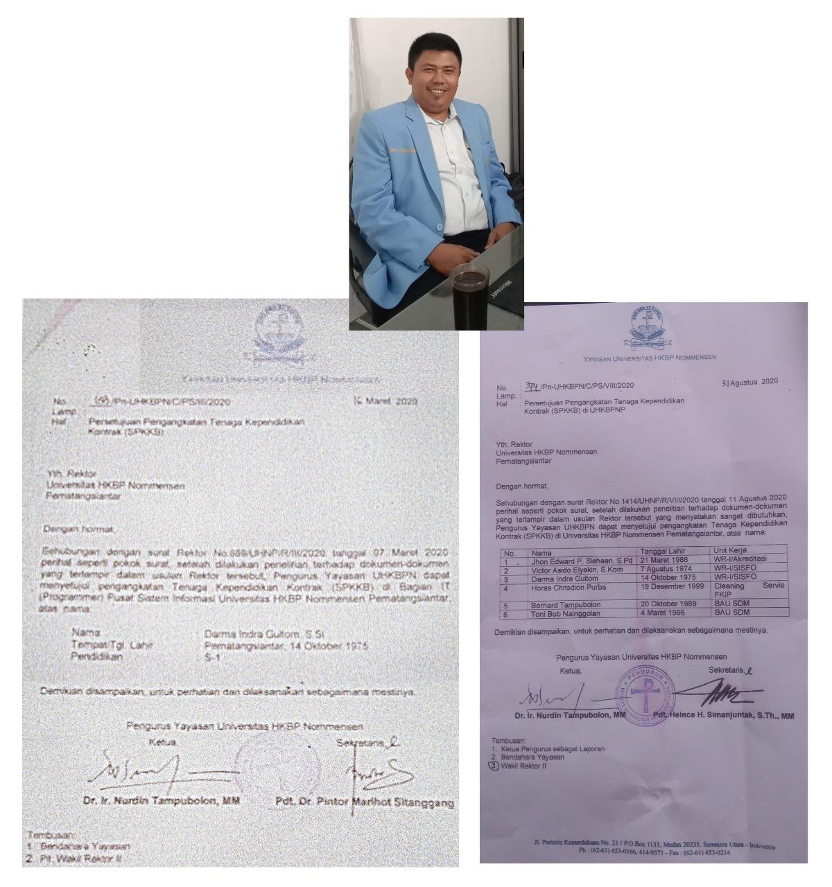 Rektor UHNP Sanggam Siahaan Mengeluarkan SK-SK Ganjil